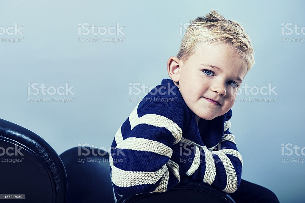 Portrait of a confident boy royalty-free stock photo