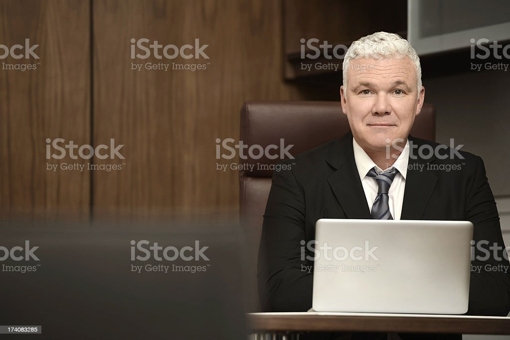 Portrait of a confident business man royalty-free stock photo