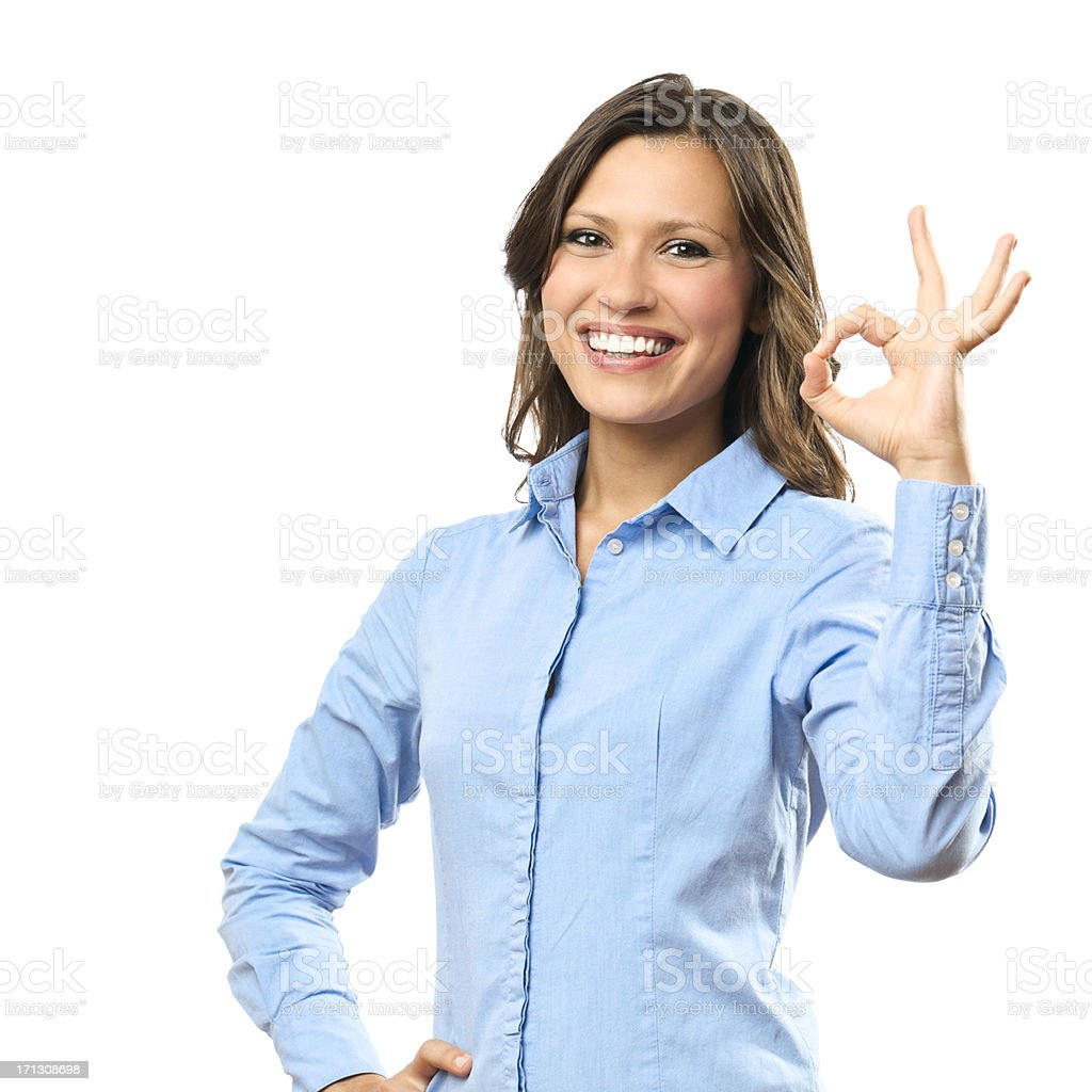 Portrait of a confident businesswoman royalty-free stock photo