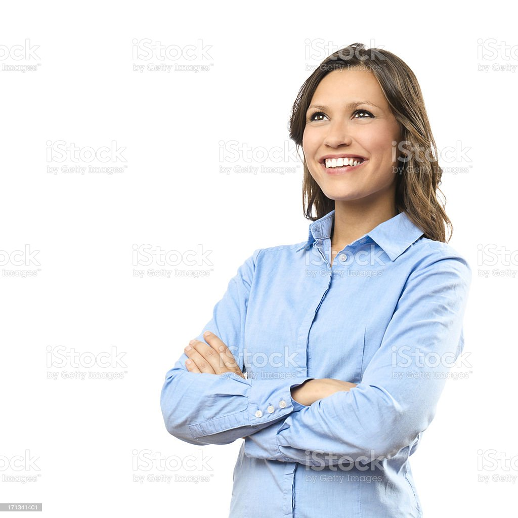 Portrait of a confident businesswoman stock photo