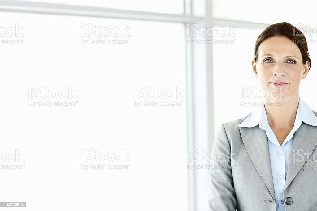Portrait of a confident mature businesswoman royalty-free stock photo