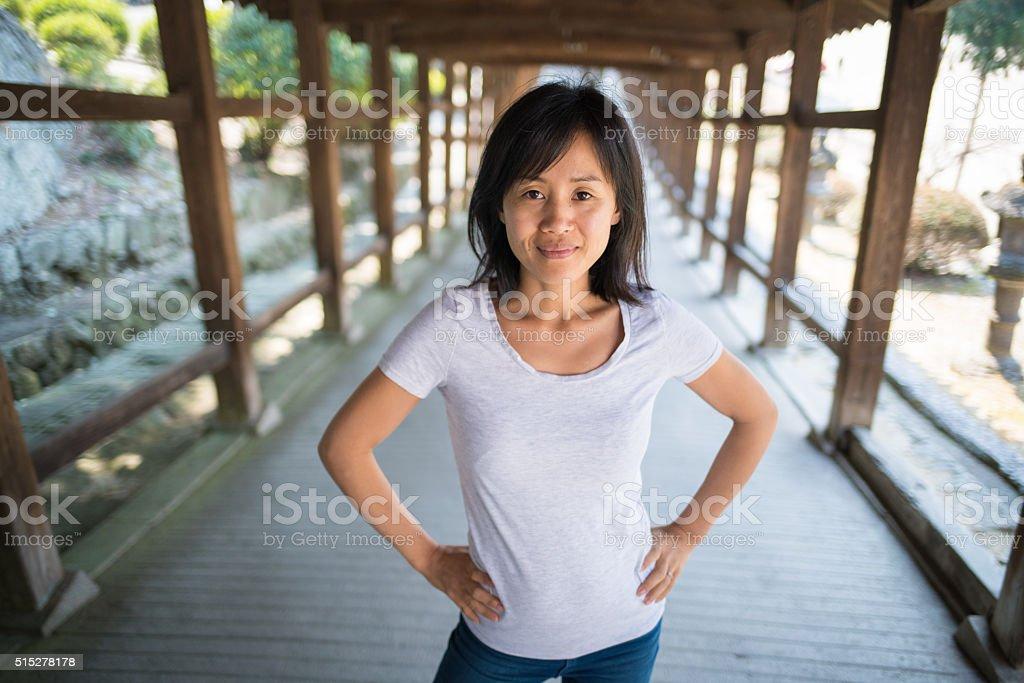 Portrait of a confident woman stock photo