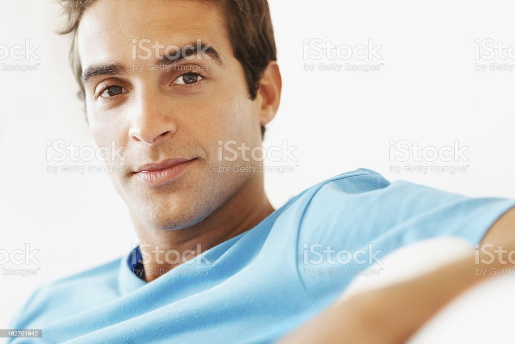 Portrait of a confident young man royalty-free stock photo