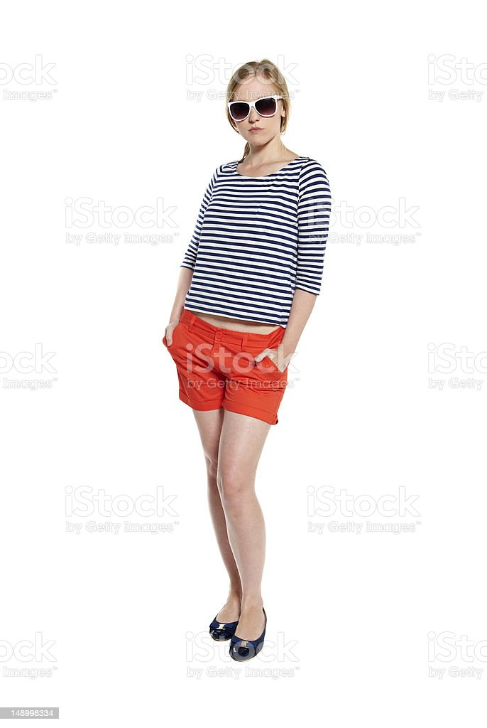Portrait of a confident young woman stock photo