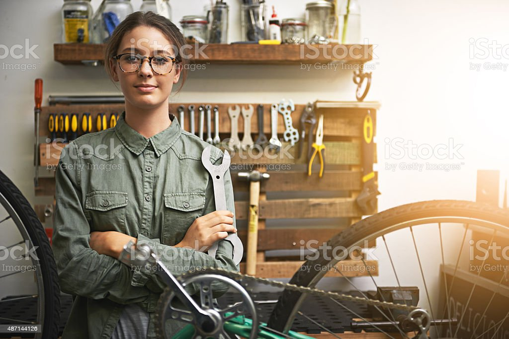 Let's get your bike back to brand new again stock photo