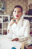 Portrait of a content businesswoman