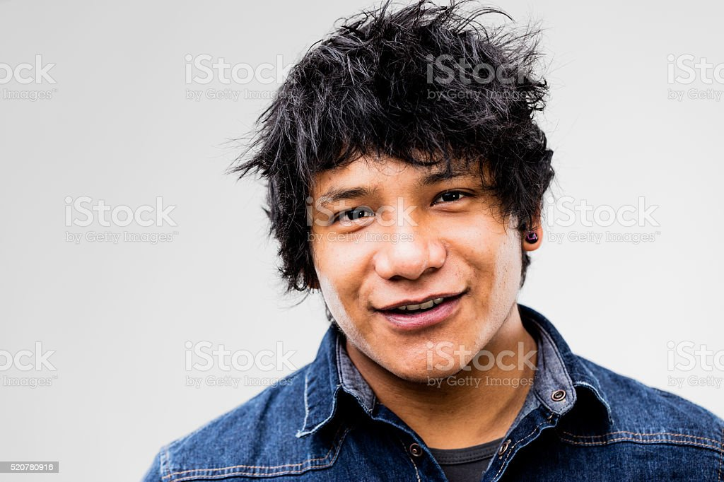 portrait of a cool South American guy stock photo