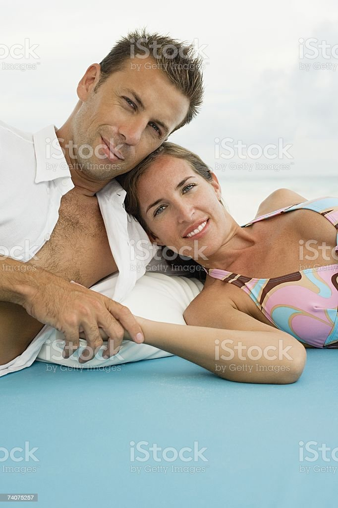 Portrait of a couple stock photo