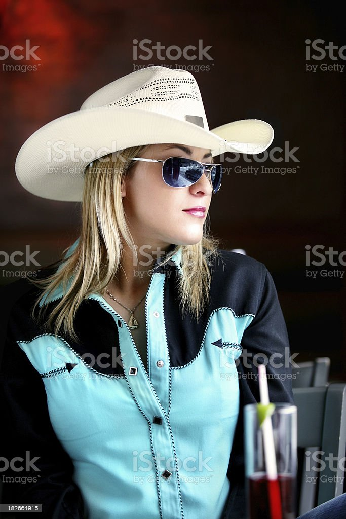 Portrait of a cowgirl royalty-free stock photo