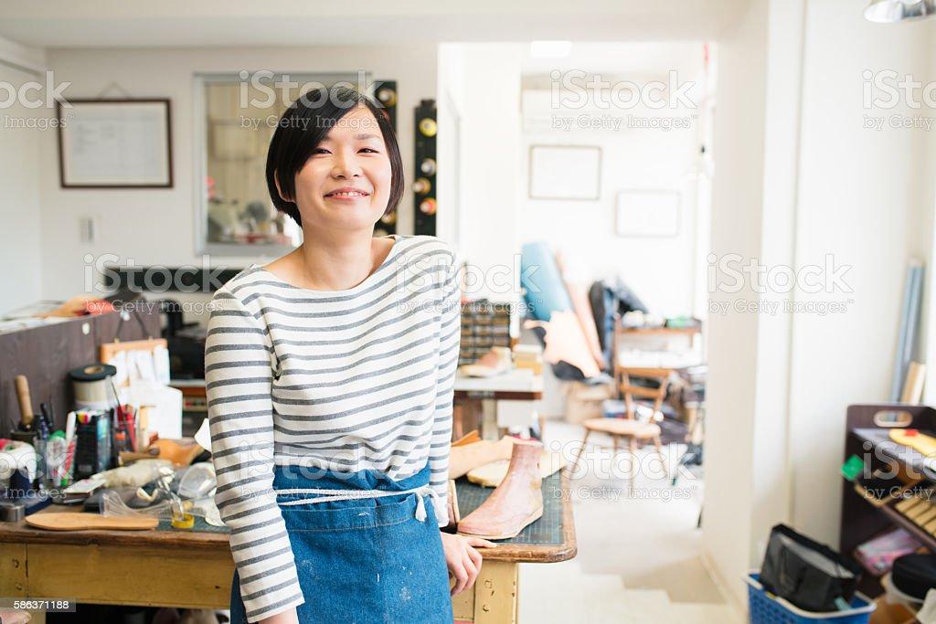 Portrait of a craftsperson stock photo