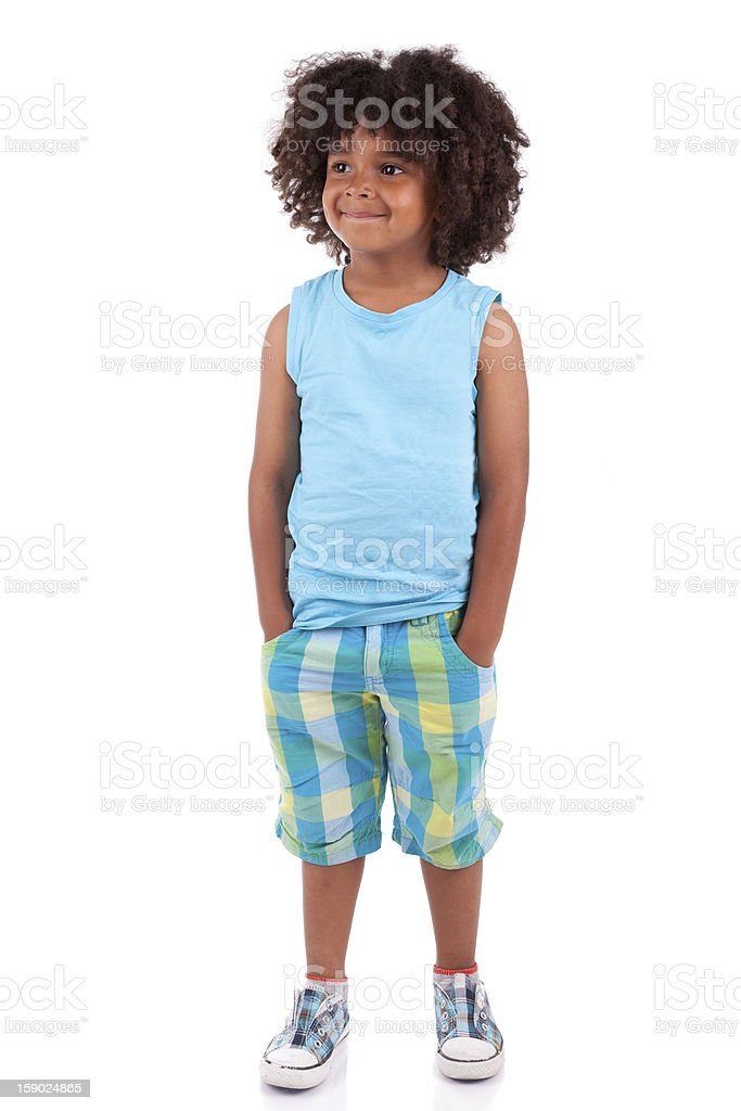 Portrait of a cute african little boy royalty-free stock photo