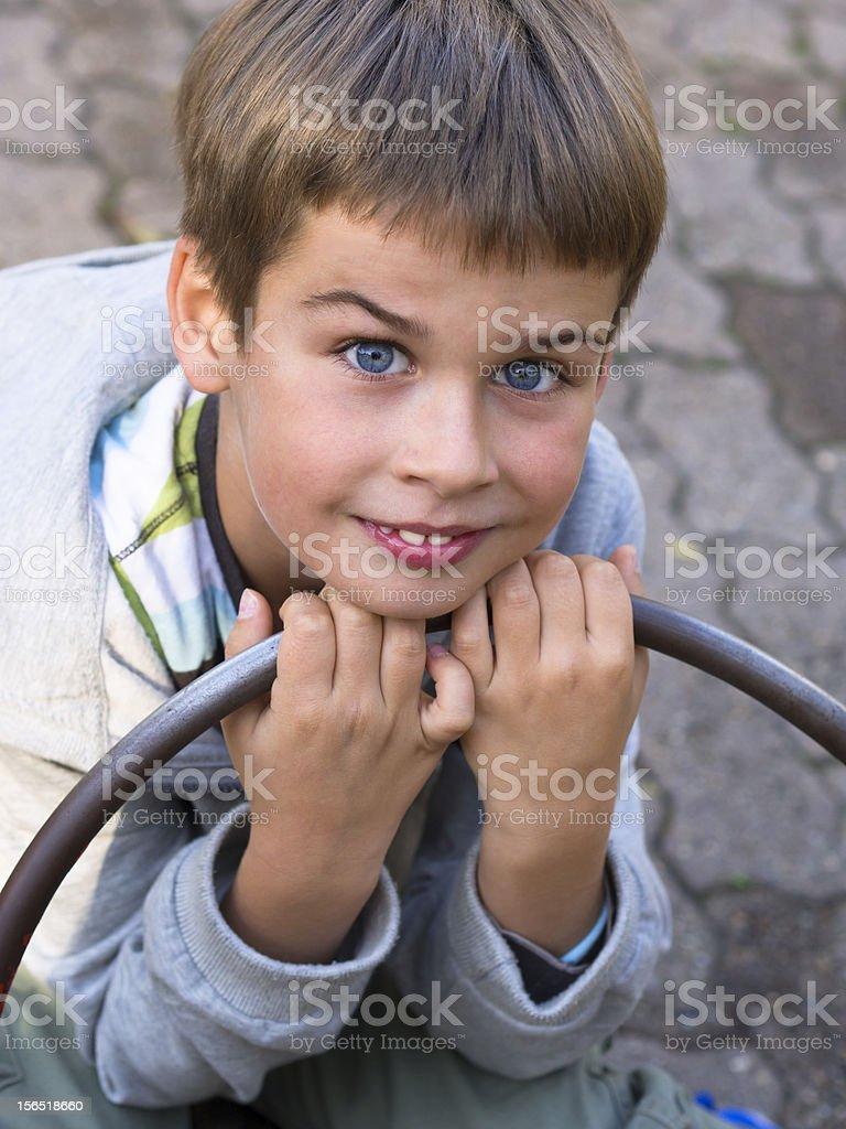 portrait of a cute boy royalty-free stock photo