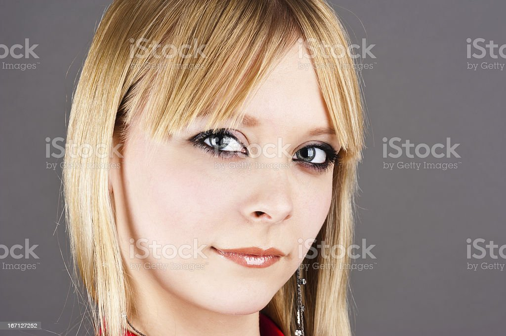 portrait of a cute girl stock photo