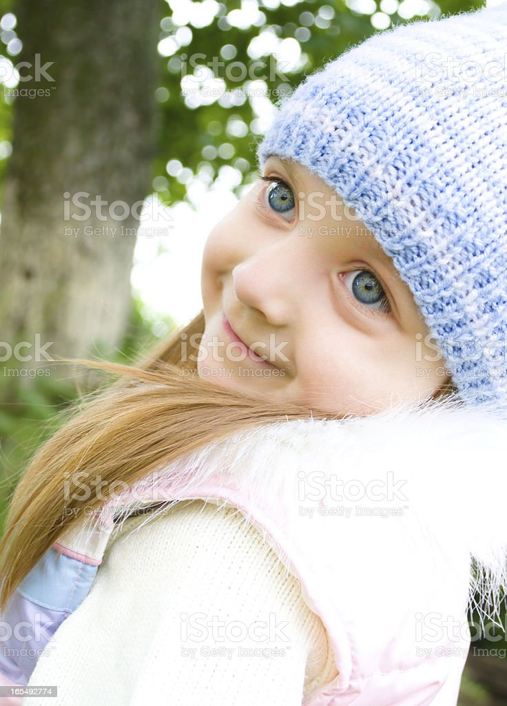 Portrait of a cute little girl royalty-free stock photo