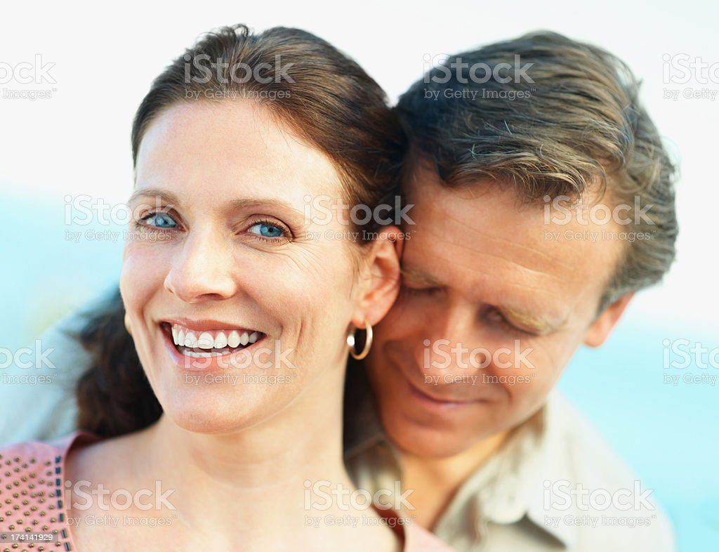 Portrait of a cute mature couple enjoying each others company stock photo