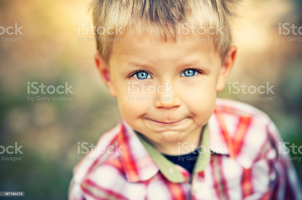 Portrait of a cute, smiling little boy royalty-free stock photo