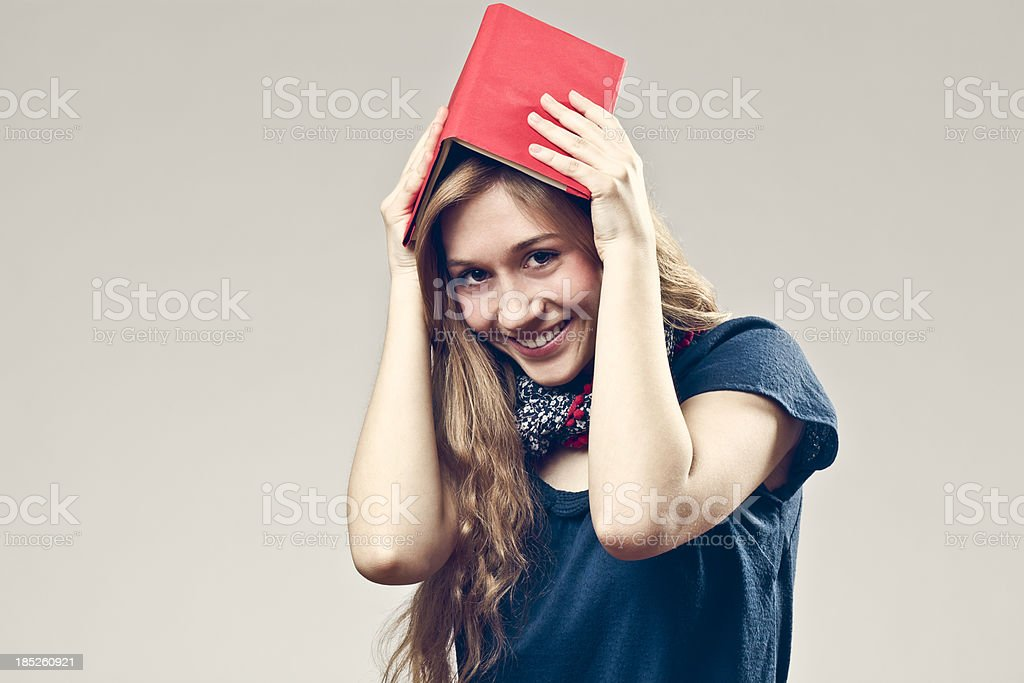Portrait of a cute teenage girl royalty-free stock photo