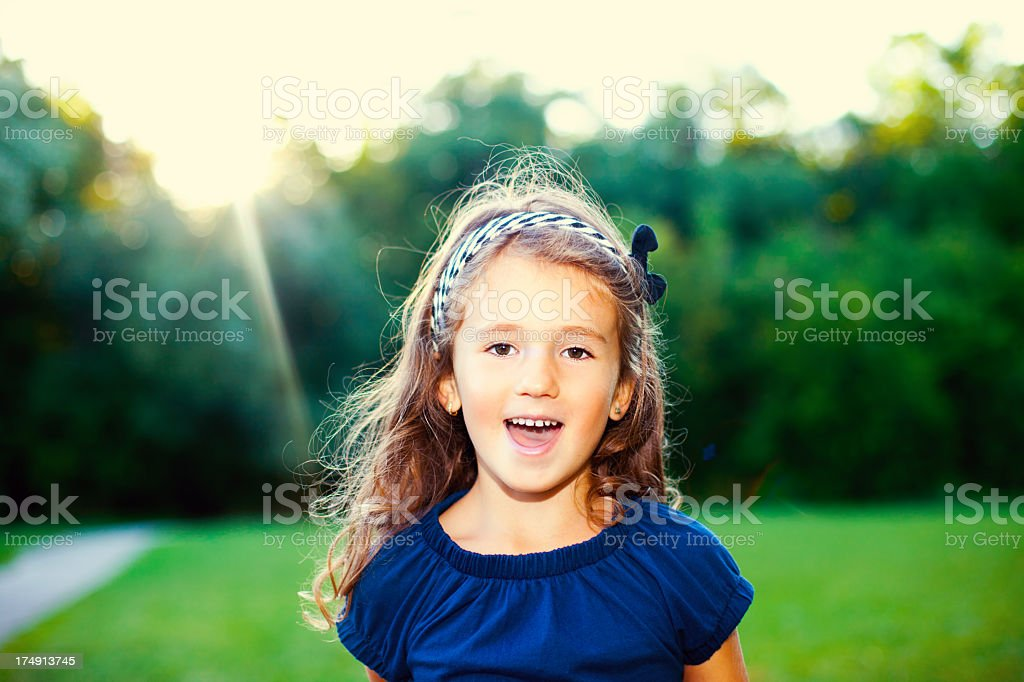 Portrait of a cute young girl royalty-free stock photo