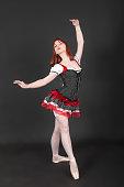 Portrait of a dancing girl