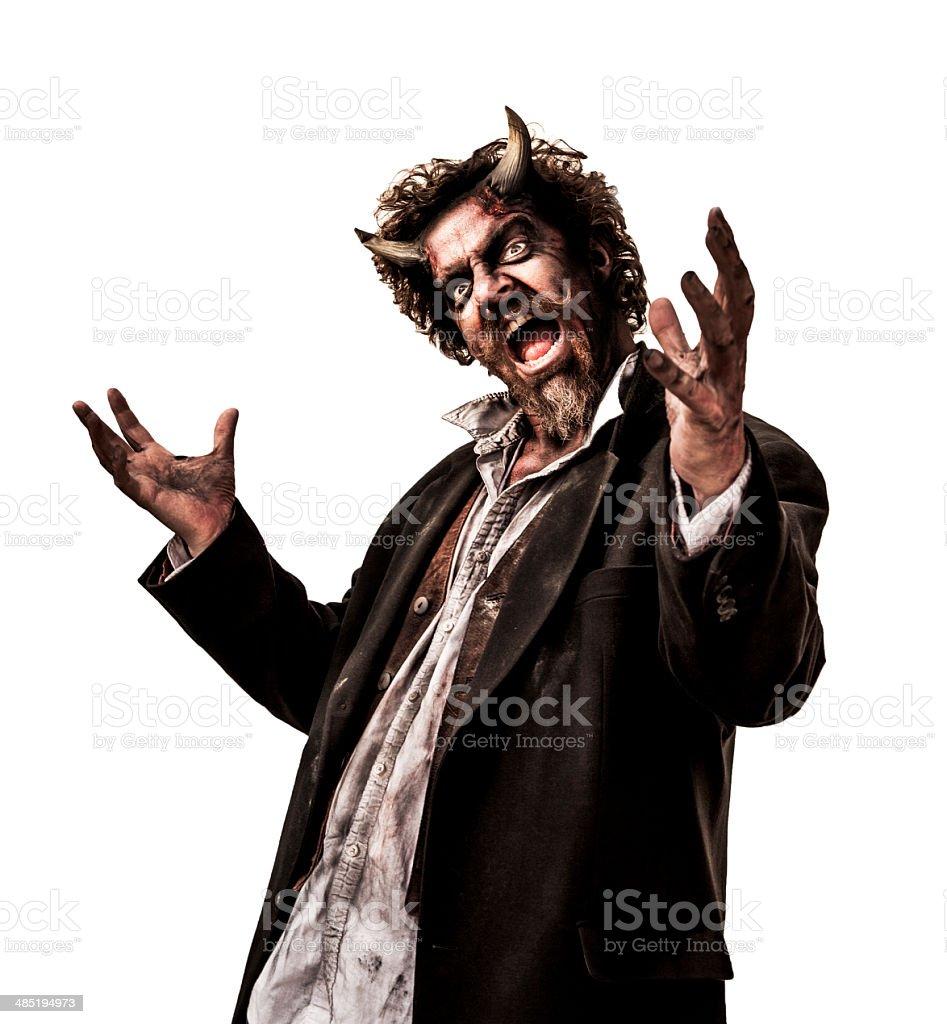 Portrait of a Devil stock photo