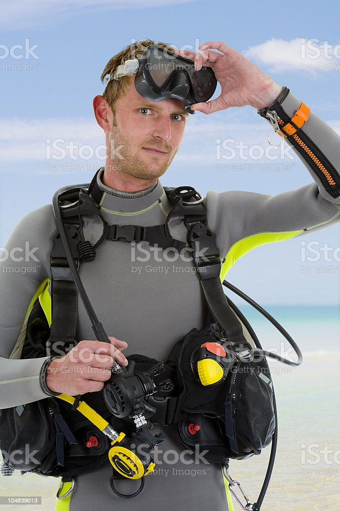 portrait of a diver royalty-free stock photo