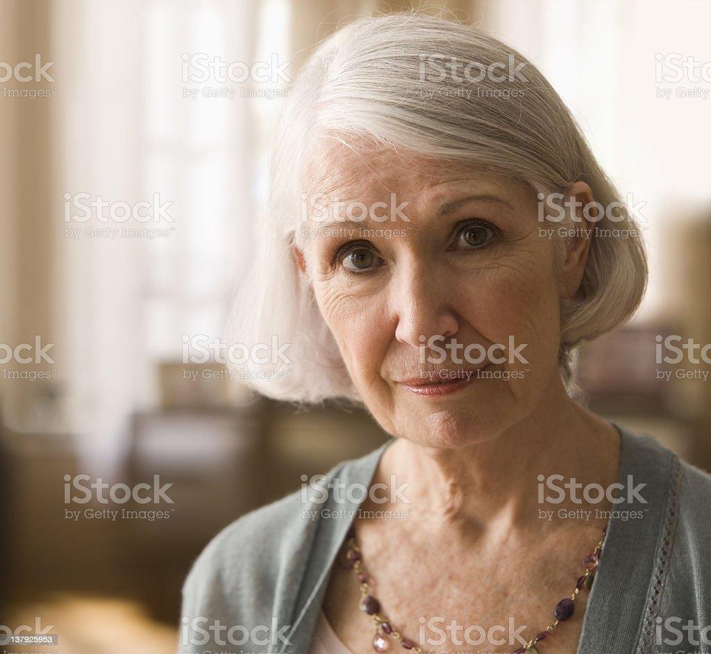 Portrait of a elderly woman royalty-free stock photo