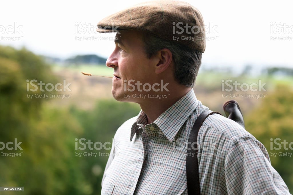 Portrait of a English man outdoors stock photo