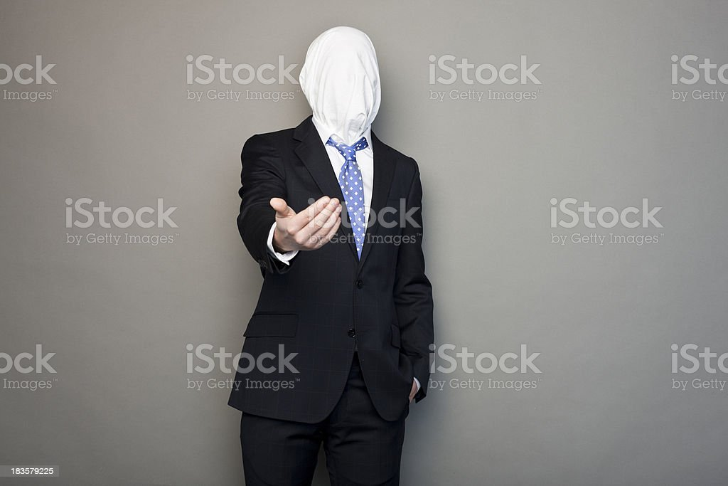portrait of a faceless man royalty-free stock photo
