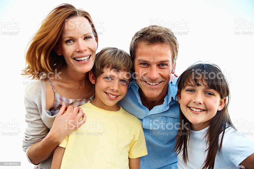 Portrait of a family having fun royalty-free stock photo