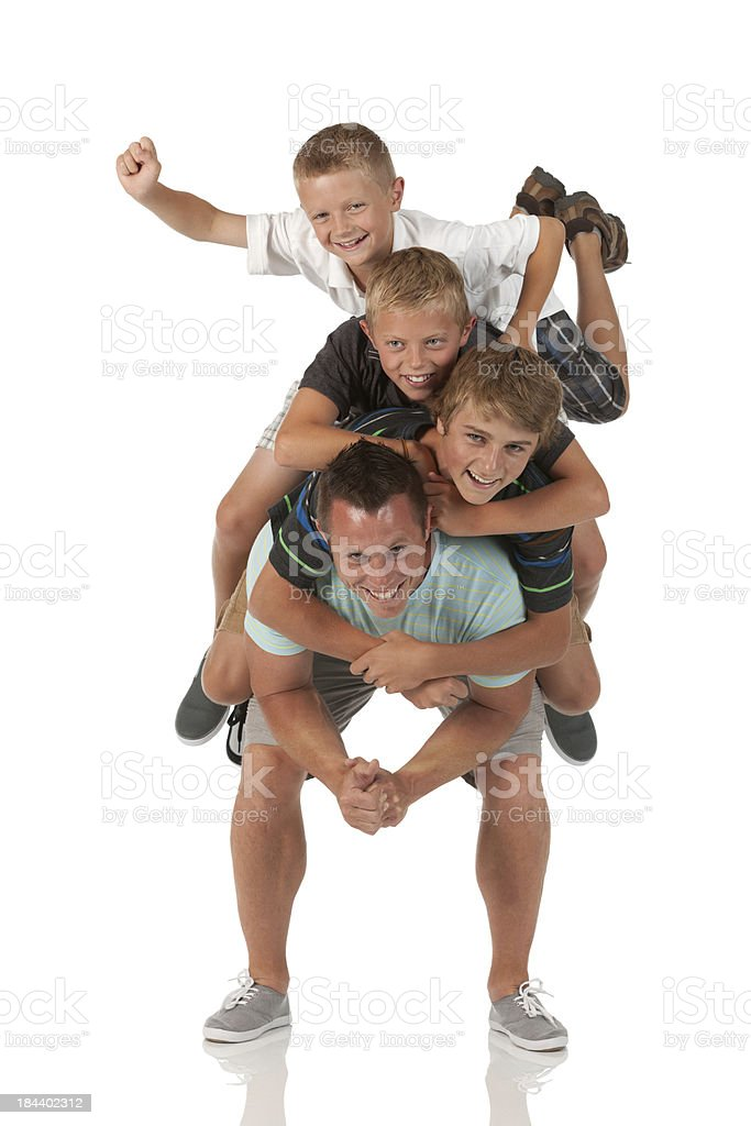 Portrait of a family having fun royalty-free stock photo