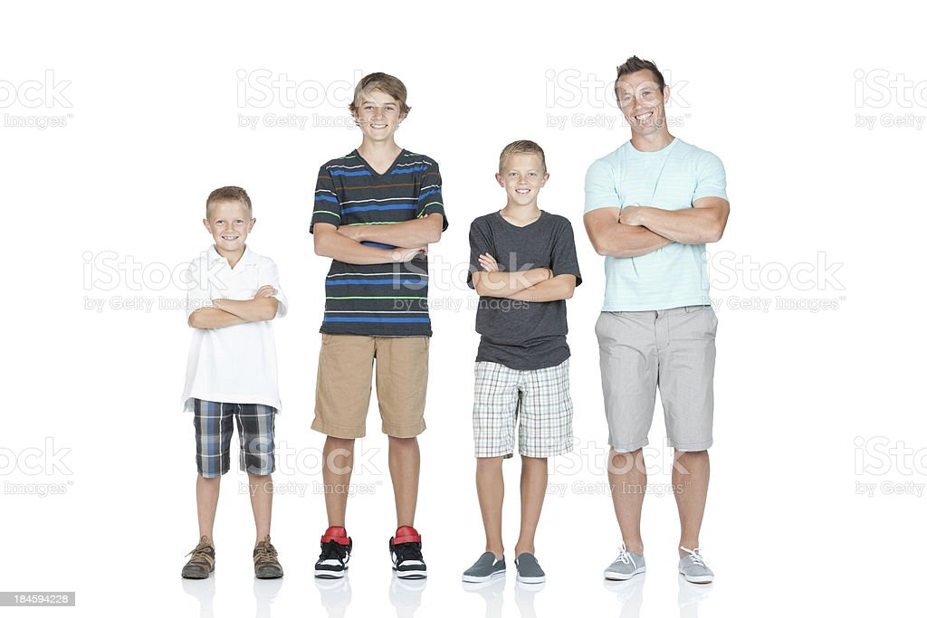 Portrait of a family smiling royalty-free stock photo