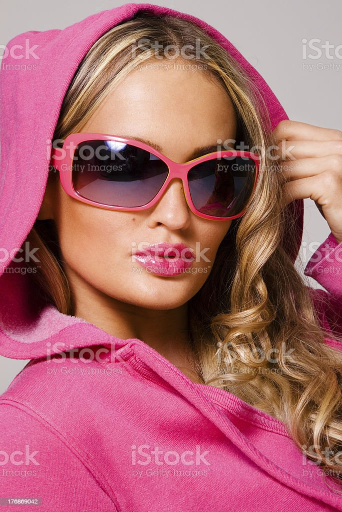 Portrait of a fashionable woman royalty-free stock photo