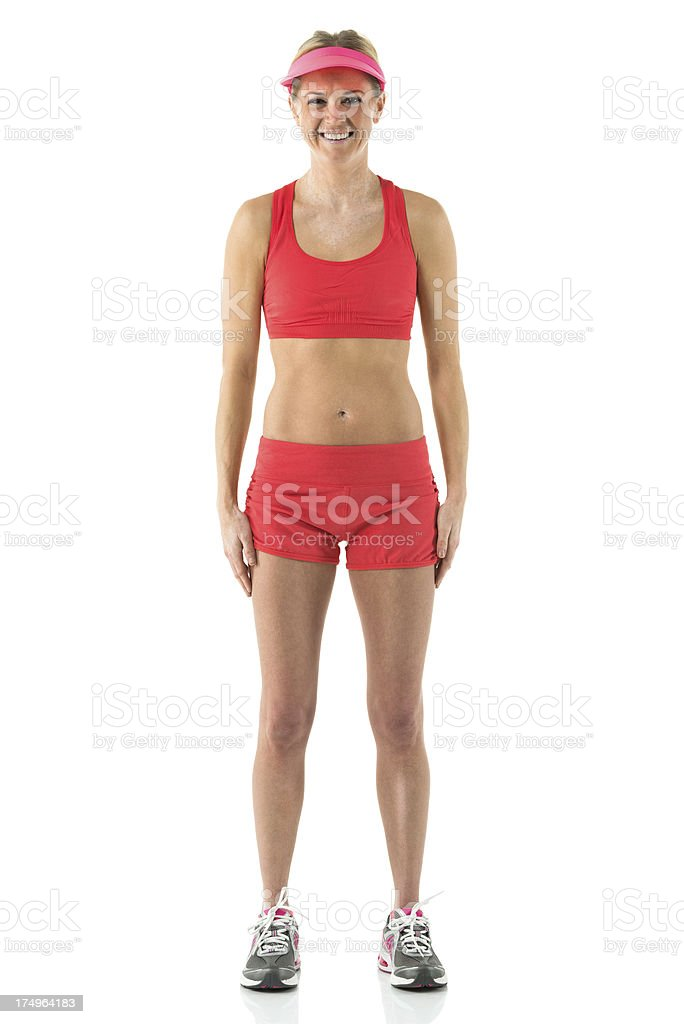 Portrait of a female athlete smiling royalty-free stock photo