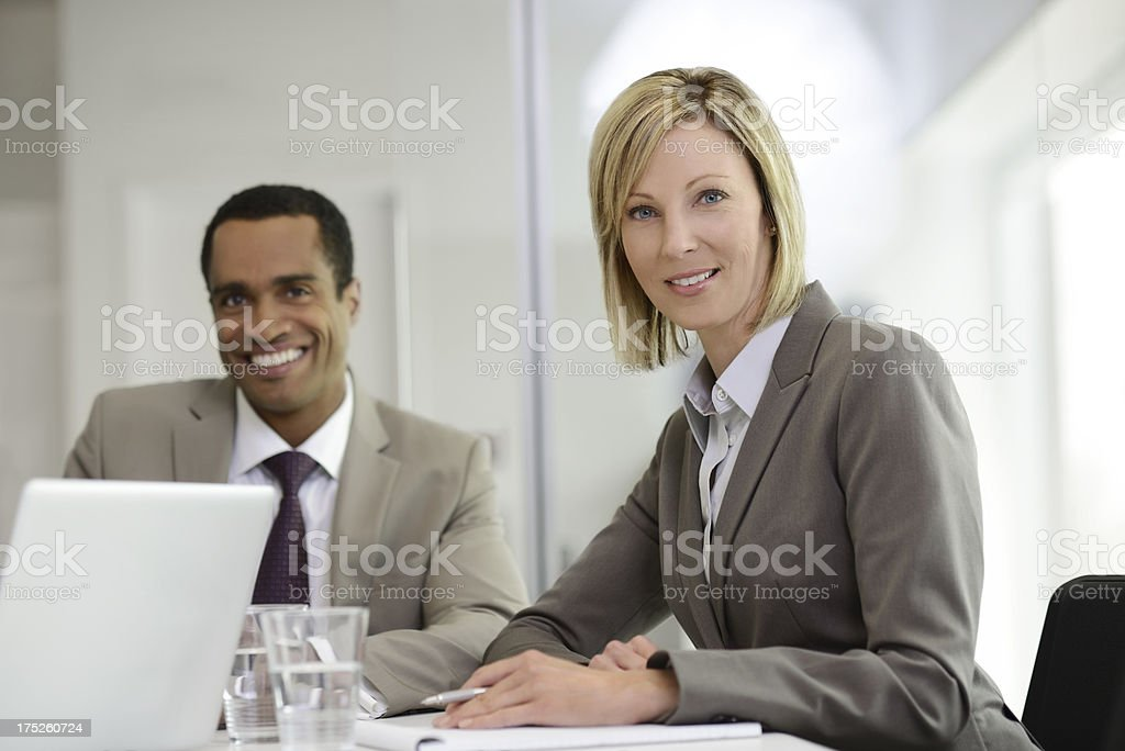 Portrait of a female business woman royalty-free stock photo