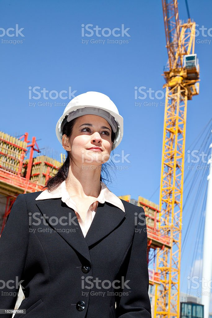Portrait of a female construction supervisor royalty-free stock photo