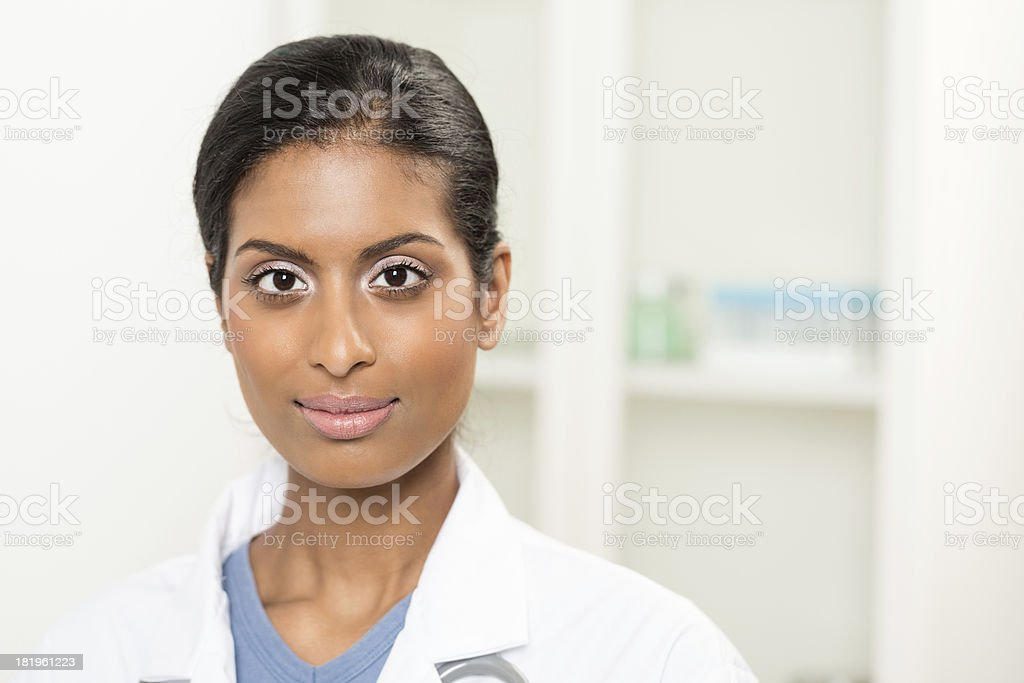 Portrait Of A Female Doctor royalty-free stock photo
