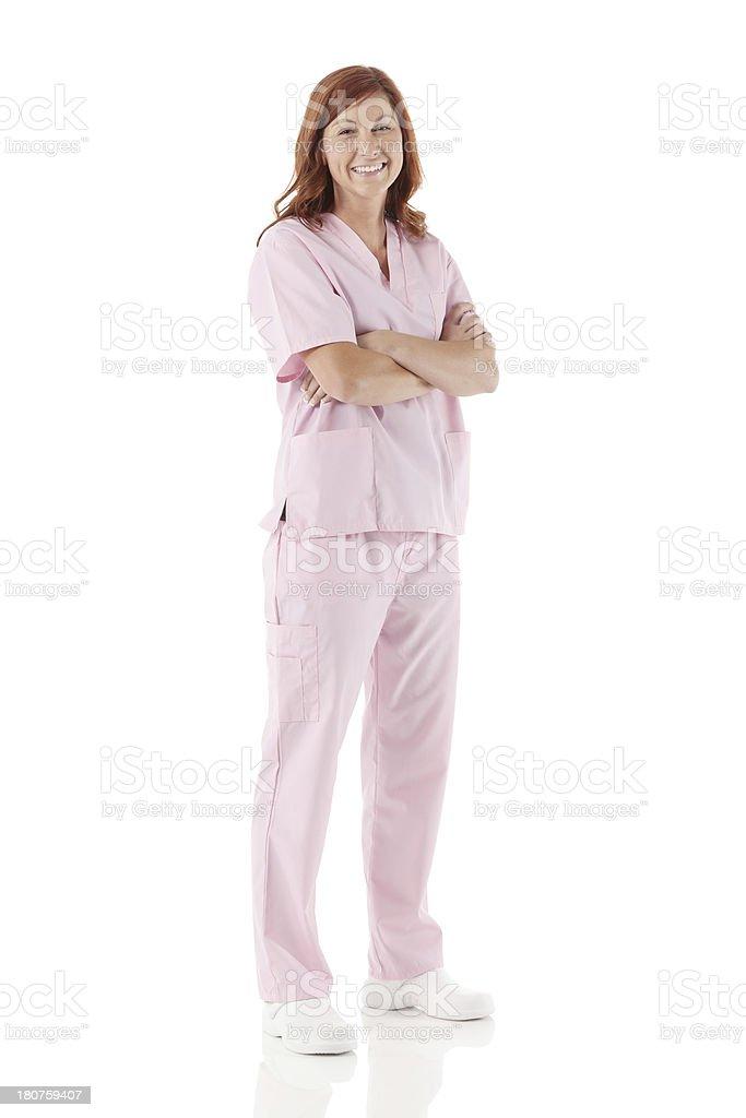 Portrait of a female nurse smiling royalty-free stock photo