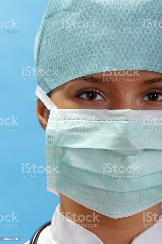 Portrait of a female surgeon royalty-free stock photo