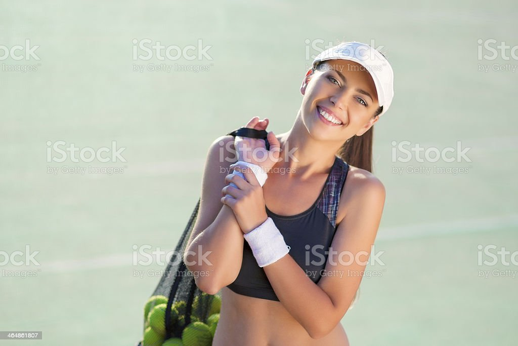Portrait of a Female Tennis Athlete royalty-free stock photo