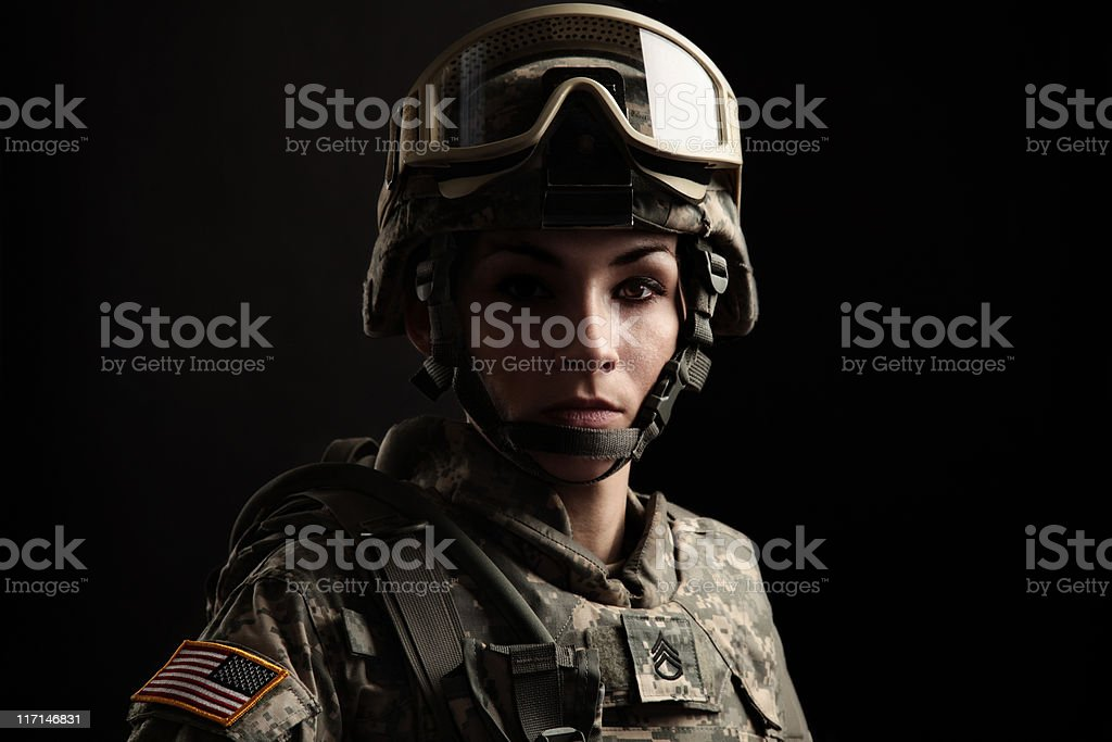 Portrait of a Female US Military Soldier royalty-free stock photo