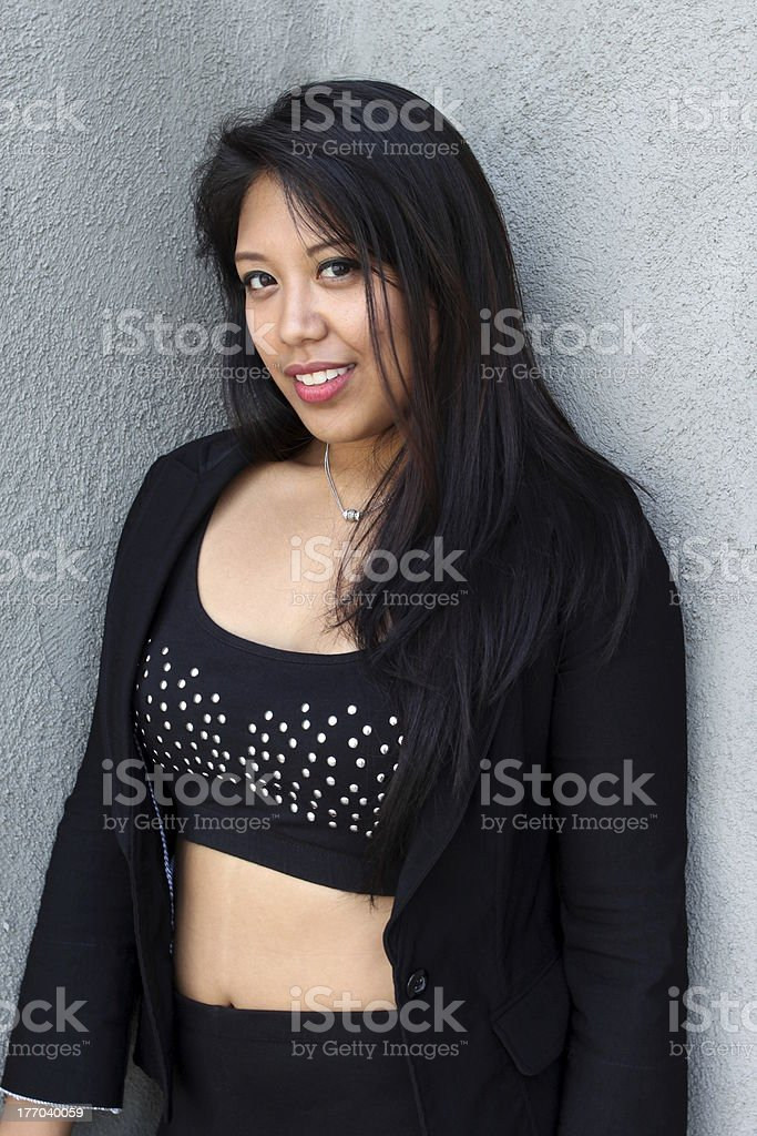 Portrait of a Filipino woman royalty-free stock photo