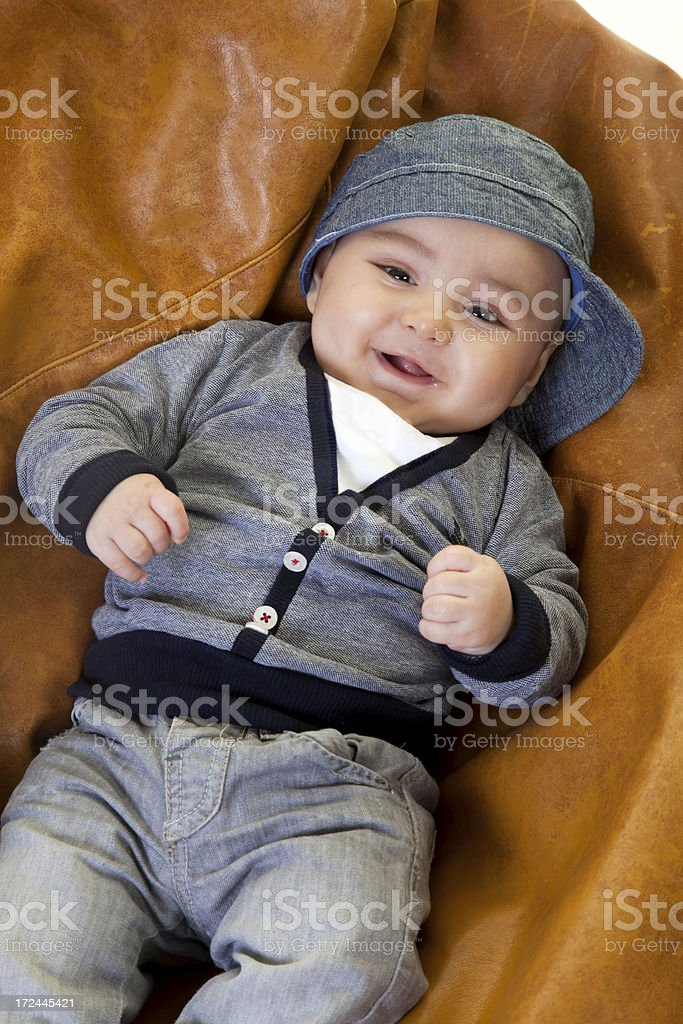portrait of a five month old child royalty-free stock photo