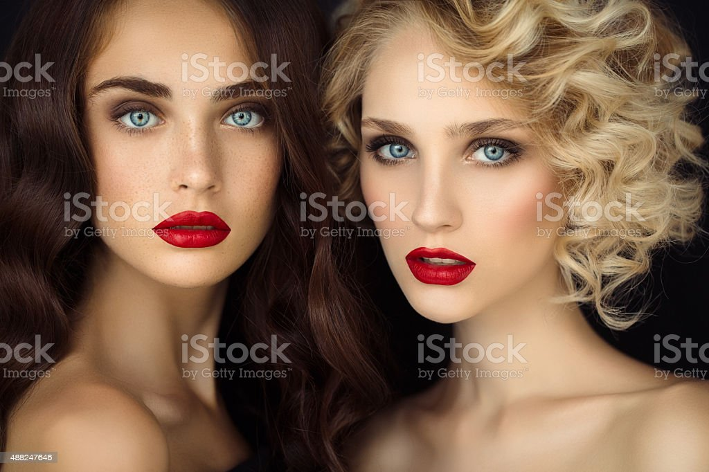 Portrait of a fresh and lovely women stock photo
