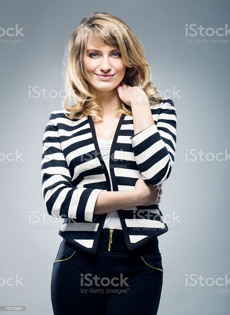 Portrait of a friendly woman royalty-free stock photo