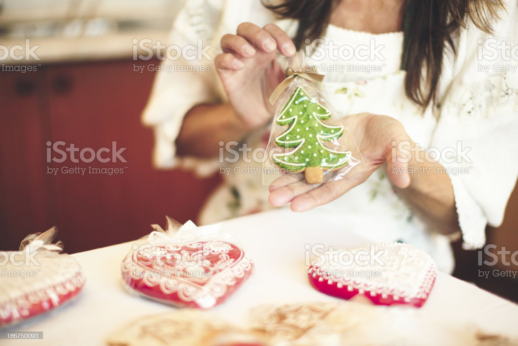 Portrait of a gingerbread maker royalty-free stock photo