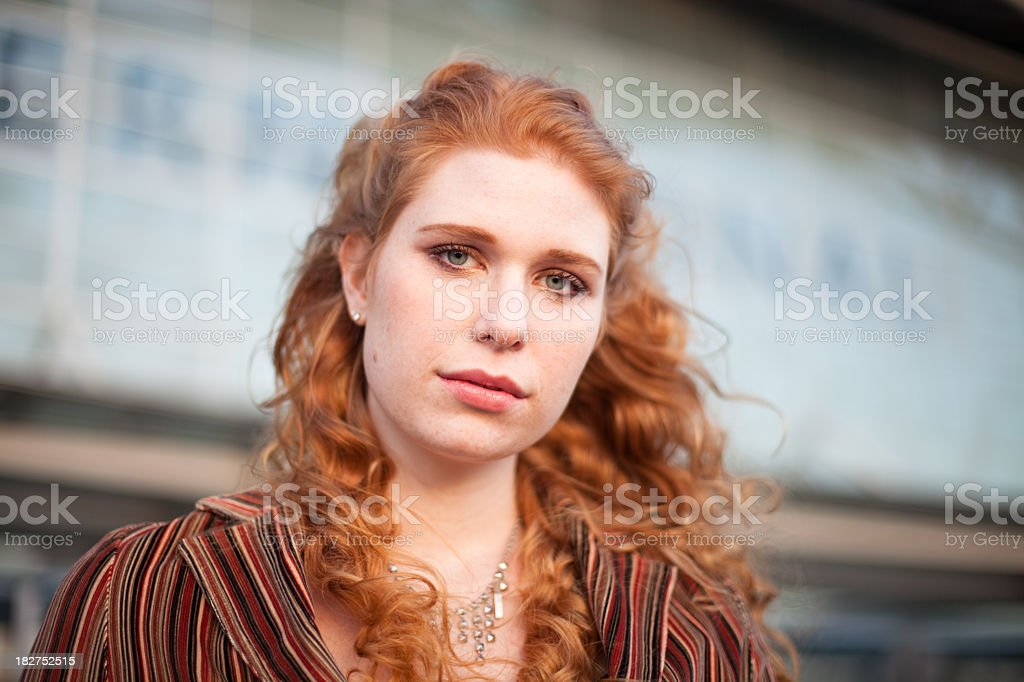 Portrait of a Girl at the Airport royalty-free stock photo