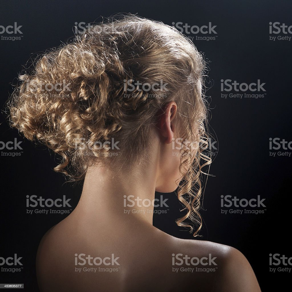 Portrait of a girl hairstyles stock photo
