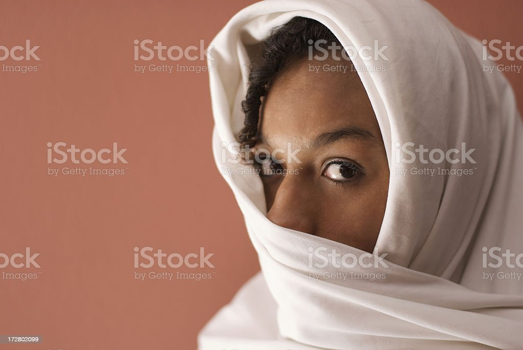 Portrait of a Girl in White royalty-free stock photo