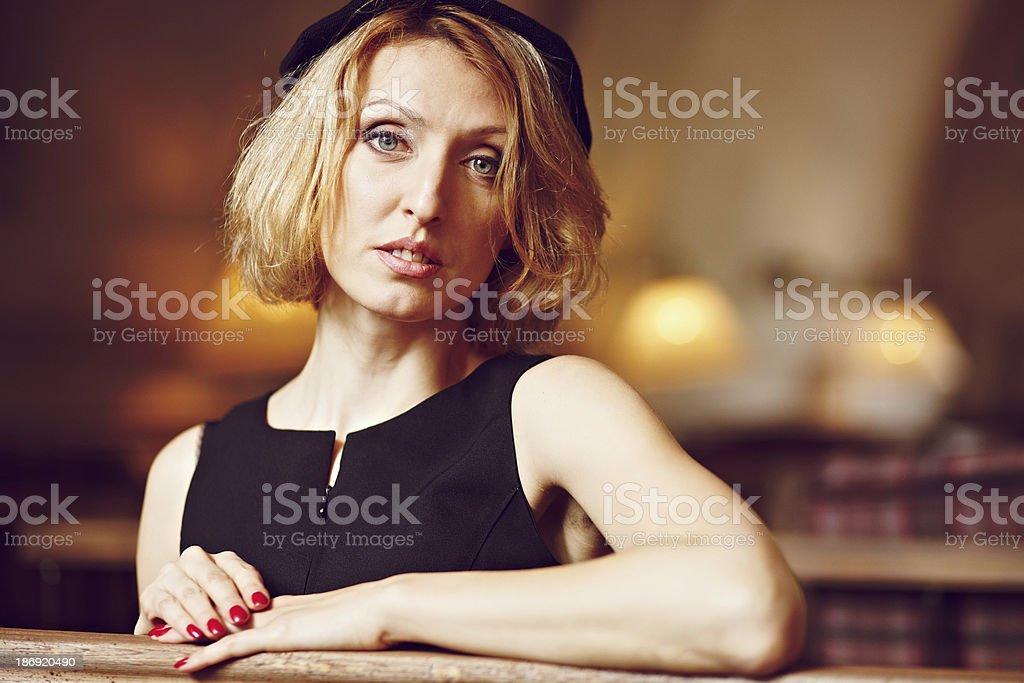 Ritratto di una ragazza foto stock royalty-free