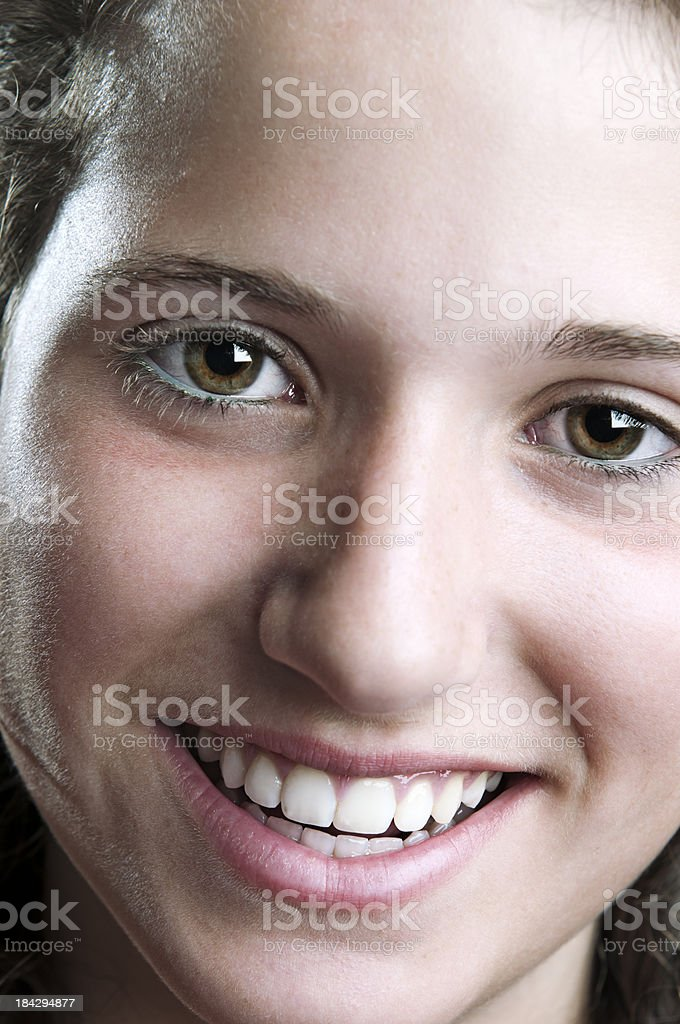 portrait of a girl smiling stock photo